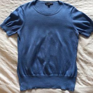 Brooks Brothers blue pima short sleeve sweater, L